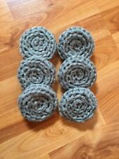 6 Gray/silver ---- NYLON NET POT SCRUBBIES