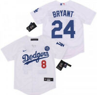 Kobe Bryant Los Angles Dodgers Jersey #8 In Front & #24 In Back KB Patch Large