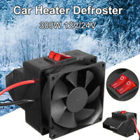 KE_ 12V/24V 300W Winter Car Electric Heater Heating Fan Window Defroster Demis
