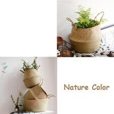 Pliable Fleur Panier Bambou Plante Jardin Vêtement Lavage Stockage Rangement Pot