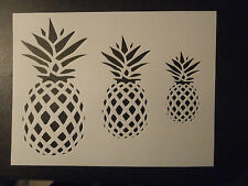 "Pineapple Stencil 8.5"" x 11"" 3 Different Size Primitive Pineapples Free Shipping"