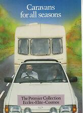 CI CARAVAN BROCHRE - ECCLES, ELITE, COSMOS, approx 1987. UK POST FREE