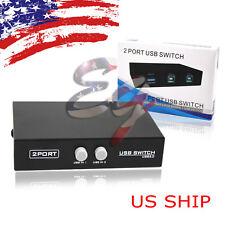 US SHIP Mini 2 Ports USB Printer Sharing Share Switch Splitter Box Hub