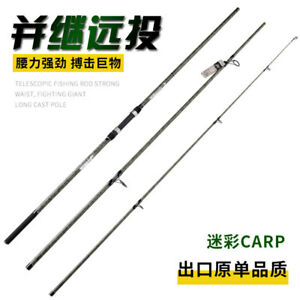13ft Powerful Travel Surf Rod 3 Pieces Saltwater Spinning Casting Rod 100-300g
