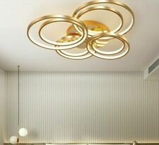 LED Gold Ceiling Light Round Ring For Home Rooms Decor Lighting Fixture Lustres