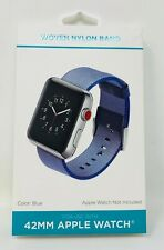 Blue Woven Nylon Band for 42MM Apple Watch - WithItGear Premium Quality