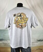 Tommy Bahama Relax GAME DAY GRILL Shirt XXL Heather Gray Cotton FOOTBALL Marlin