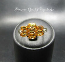 9ct Gold Citrine Cluster Ring Size N 1/2