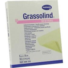 GRASSOLIND Salbenkompressen 5x5cm steril 10St Kompressen PZN 3245618