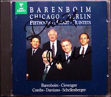 Barenboim firmato Beethoven & Mozart PIANO QUINTET CD Hansjörg morsetti Berger