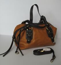 NWT Lucky Brand Buckman Leather Barrel Bag Yellow Stone $198