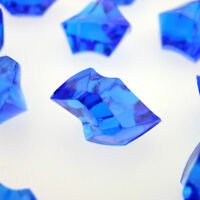 Royal Blue Acrylic Ice Chips Table Scatter Confetti Floral Arranging Vase 3lb