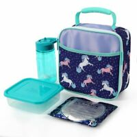 Arctic Zone Insulated Lunch Bag with Ice Pack, Drink Bottle, & Food Container