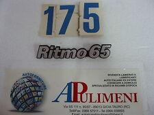 "345/65 FREGIO-LOGO-SIGLA (BADGE) FIAT ""RITMO 65"" IN PLASTICA"