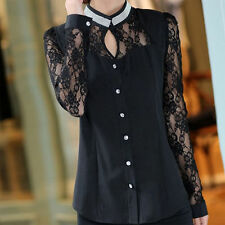 Women's Regular Long Sleeve Sleeve Chiffon Button Down Shirt Tops & Blouses