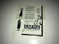NAZARIN Vintage Movie Pressbook Luis Bunuel Mexican Religious Drama