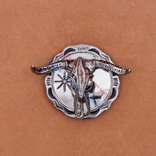10pcs Western cowboy Bull Skull Longhorn Leathercraft Concho Screwback Conchos