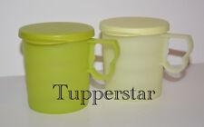 Tupperware Junge Welle Becher Tassen Hellgelb+Grün (2 St)