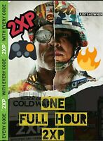 Call of Duty Black Ops Cold War ONE HOUR double XP 2XP- INSTANT Delivery!