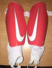 Red & White Nike Mercurial X-Large Soccer Shin Guards