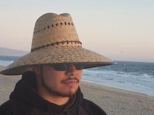 Lifeguard Palm Straw Sun Hat Extra Wide Brim Sombrero