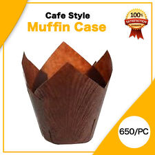 CAFE STYLE CHOCLATE MUFFIN CASES PAPER 600/PC CUPCAKE BOXES CAKE BOXES BOARDS