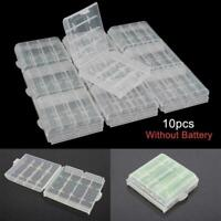 1pcs Hard Plastic Clear Case Cover Holder Battery Storage Box P3F6