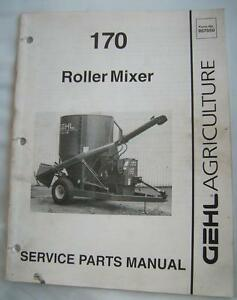 GEHL 170 ROLLER MIXER Service Parts Manual 1993 Agriculture Farming Machinery