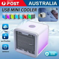 Small Fan Cooling USB Rechargeable Air Conditioner Portable Cooler Desktop mini