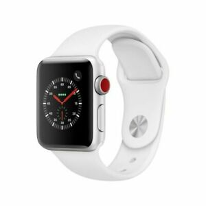 OPEN BOX AND NEW!! Apple Watch Series 3, 38mm Silver/White