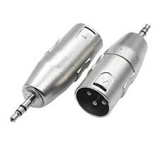 2Pcs Mini 3.5mm À XLR 3 Broches Mâle Micro Adaptateur Connecteur Pour Stéréo