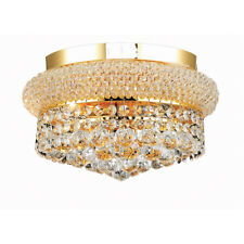 "Palace Bangle 12"" Crystal Chandelier Flush Mount Ceiling Light Gold"