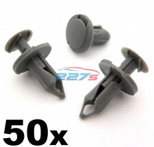 50 x 8mm Lang mittelgrau Rand Clips- perfekt für VW T4 & T5 Teppich & Van