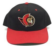 Vintage Ottawa Senators Sports Specialties Snapback Hat NHL Black Dome Plain 90s