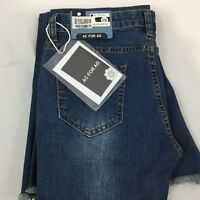 Ac for AG Jeans Sz 29 Medium Wash Skin 5 Bell Bottom boot Cut Flare Raw Hem