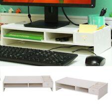 Computer Monitor Stand Desktop Screen Riser Holder Bracket Organizer Storage