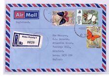 XX222 1979 MALAYSIA *Pulau Pinang* Penang Registered Airmail Cover BUTTERFLIES
