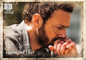 Walking Dead Season 8 Part 1 BASE Trading Card #34 / LOVED ONE LOST