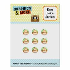 Hamster Eating Stash of Food Home Button Stickers Fit Apple iPhone
