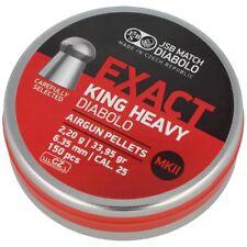 JSB Diabolo Exact King Heavy MKII. Pellets 6.35mm 150psc (546498-150)