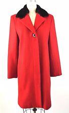 RED Winter Coat 12 Wool Blend Long Braefair Tailored Jacket Formal SOLID **1019
