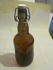 Vintage Grolsch Beer Bottle, with Wire  and Porcelain Cap, 16 Oz. empty (005-3)