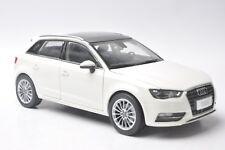 Audi A3 sportback car model in scale 1:18 white