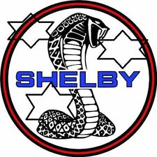 VINTAGE FORD COBRA SHELBY COBRA  DECAL STICKER LABEL 9 INCH DIA 230 MM HOT ROD