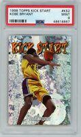Kobe Bryant Los Angeles Lakers 1998 Topps Kick Start Basketball Card #KS2 PSA 9