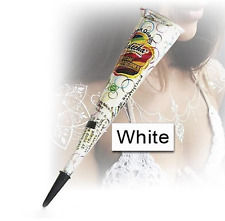 Fashion Body Art Paint Temporary Tattoo kit Natural Herbal Henna Cones White 1Pc