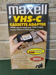 Maxell VHS-C Cassette Adapter  NEW & SEALED  Watch VHS-C in VHS Player VP-CA