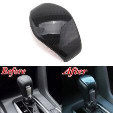 Carbon Fiber Look A/T Gear Shift Knob Head Grip Cover Trim Bezel For Civic 16 17