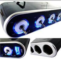 JKLONG Car Accessories  Power Adapter Charger  12V 24V USB LED Light Switch Sock