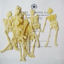 10 pcs  Vintage Halloween Plastic Skeletons - Movable Arms & Legs Original Stoc